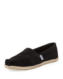 TOMS Suede Espadrille Slip-On, Black