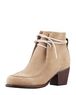 Rag & Bone Piper Suede Lace-Up Boot, Camel