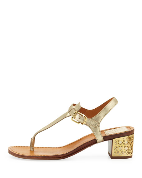 dd33518102851 Tory Burch Audra Leather Plate-Heel Thong Sandal