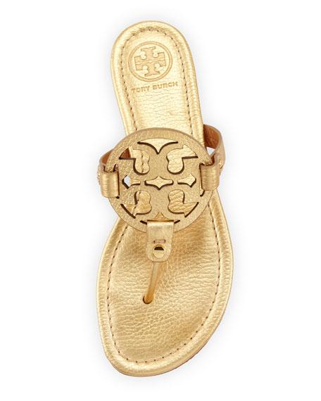 cf69347567417 Tory Burch Tory Burch Miller Metallic Logo Thong Sandal