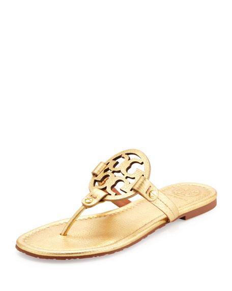 af6ebc0ed1b Tory Burch Tory Burch Miller Metallic Logo Thong Sandal