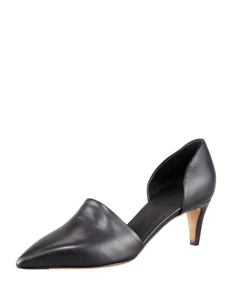 Aurelian Pointy Kitten-Heel Pump