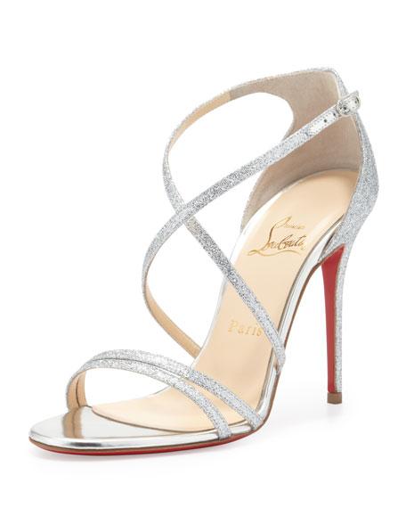 cabc3cdc553 Gwynitta Glitter Open-Toed Sandal Silver