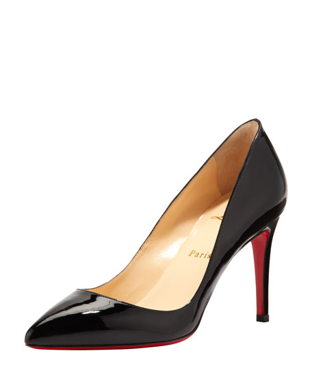 Pigalle Patent Red Sole Pump, Black