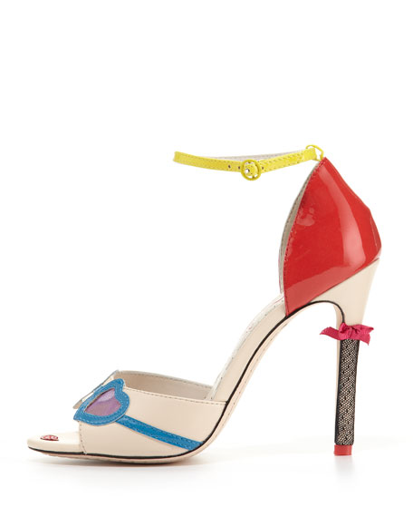 Stacy Ankle-Strap Face Pump