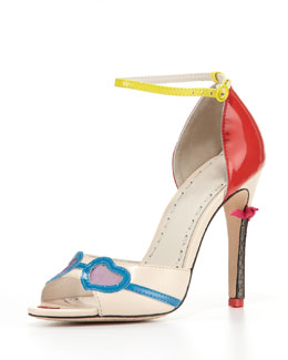 Alice + Olivia Stacy Ankle-Strap Face Pump