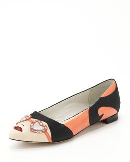 Alice + Olivia Stacy Face Pointy Flat