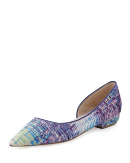 Giorgio Armani Multicolor Point-Toe Ballerina Flat