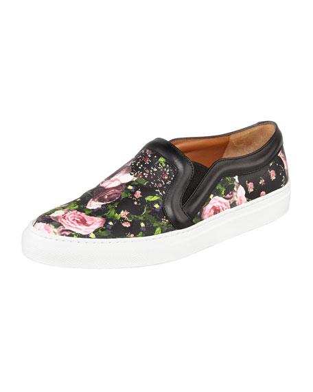 5d4d676b0d Givenchy Floral-Print Slip-On Sneaker