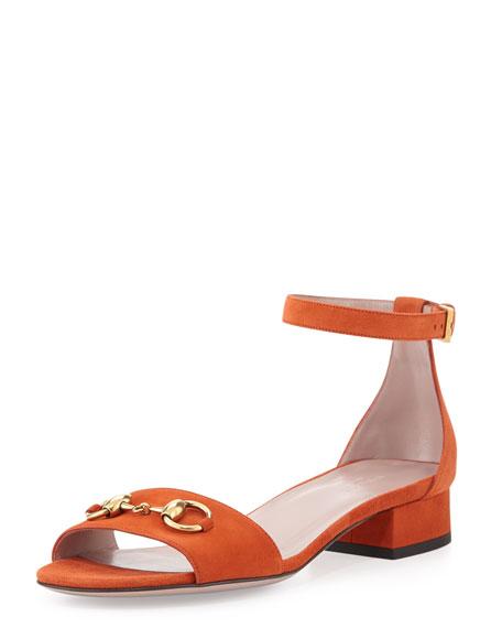 88e2e3a0ca6 Gucci Liliane Flat Suede Sandal
