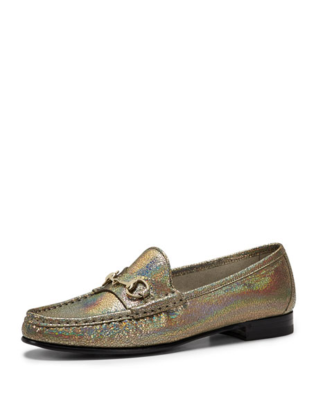 985a47e8d1b7 Gucci 60th Anniversary Metallic Loafer