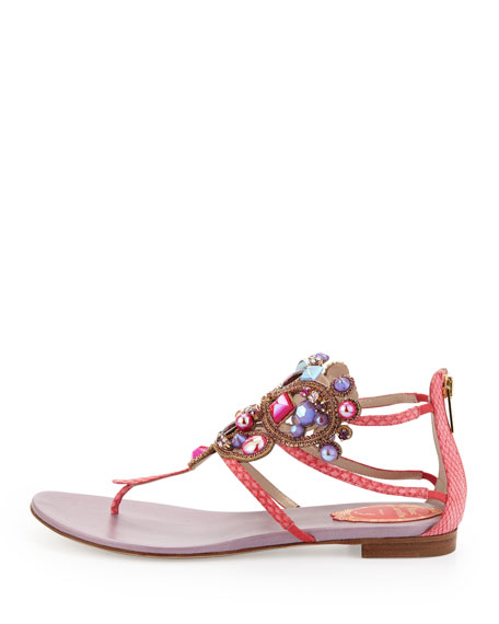 Chandelier Thong Sandal, Coral