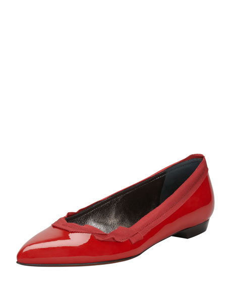 Pointed Ballerina Flat, Red