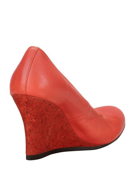 Ballerina Wedge Pump, Red