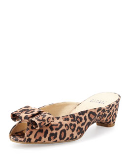 Stuart Weitzman Candy Open-Toe Slipper, Leopard
