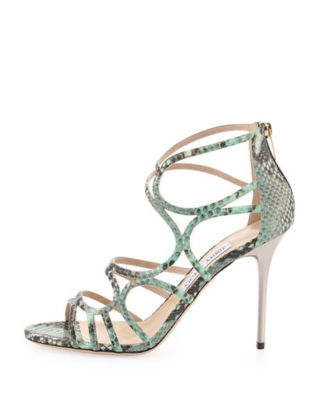 Sazerac Strappy Snake Sandal