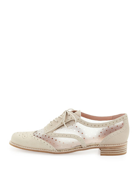 Dandyperf Perforated Oxford, Ivory