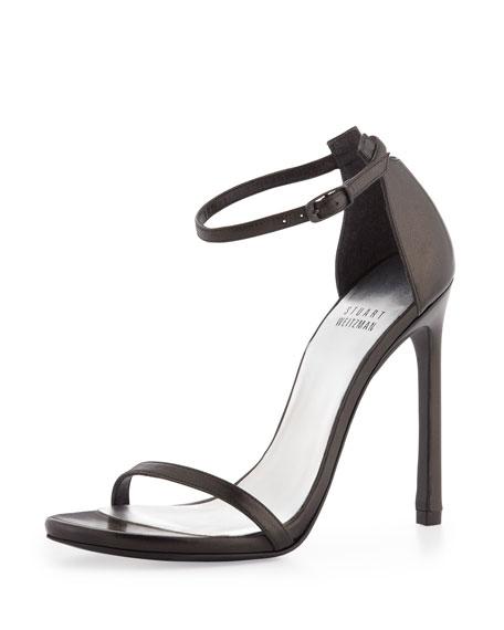Nudist Ankle-Strap Sandal, Black