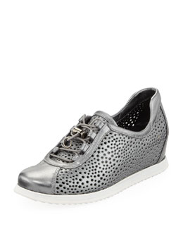 Stuart Weitzman On Your Mark Wedge Sneaker, Pewter