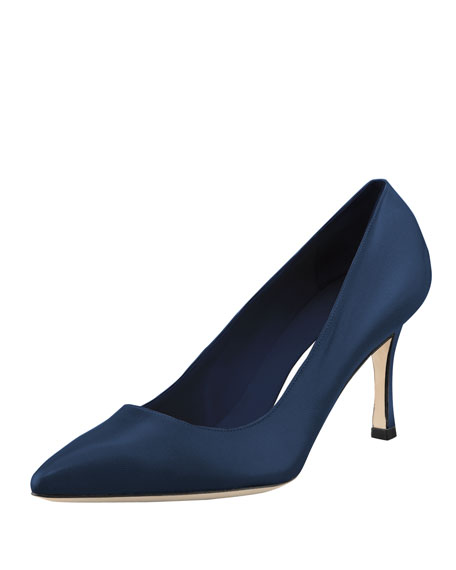 BB Leather 70mm Pump, Blue