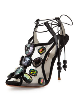 Sophia Webster Blake Jewels Sandal, Black