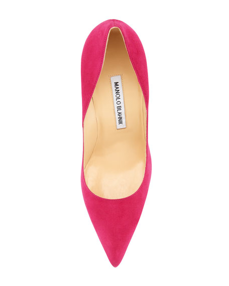 BB Suede 105mm Pump, Fuchsia (Made to Order)