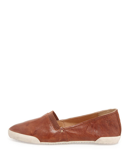 Melanie Leather Flats, Cognac