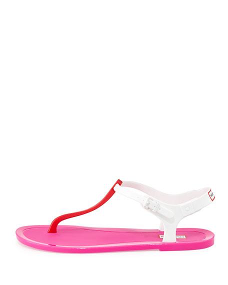 801e165627a1 Hunter Boot Original T-Strap Jelly Sandal