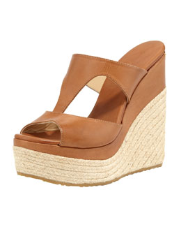 Jimmy Choo Pledge T-Strap Rope Wedge Slide Espadrille