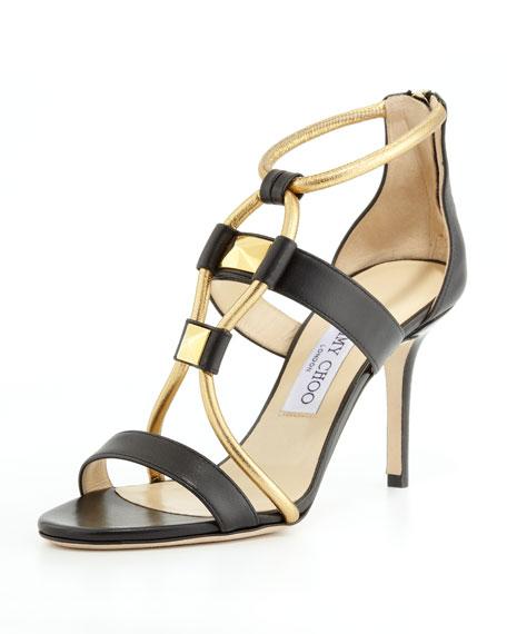 5b6f4ac8acc Jimmy Choo Venus Leather Stud Sandal