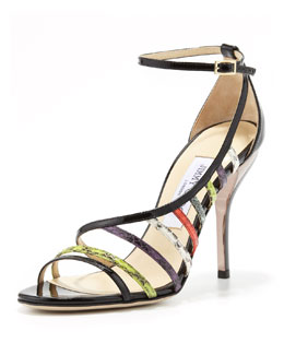 Jimmy Choo Vuka Half d'Orsay Pump, Black/Multi
