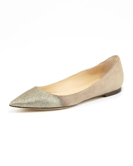 Jimmy Choo Alina Point-Toe Degrade Flat