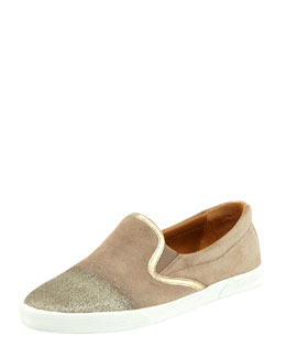 Jimmy Choo Demi Degrade-Suede Skater Slip-On
