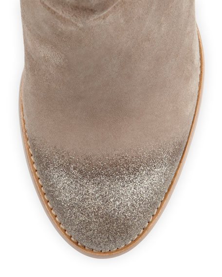 Marley Degrade-Glitter Suede Ankle Boot