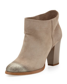 Jimmy Choo Marley Degrade-Glitter Suede Ankle Boot