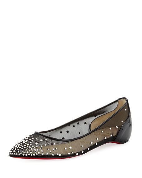 609ea746480b Christian Louboutin Body Strass Pointed-Toe Ballerina Flat