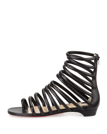 Catchetta Napa Gladiator Sandal, Black