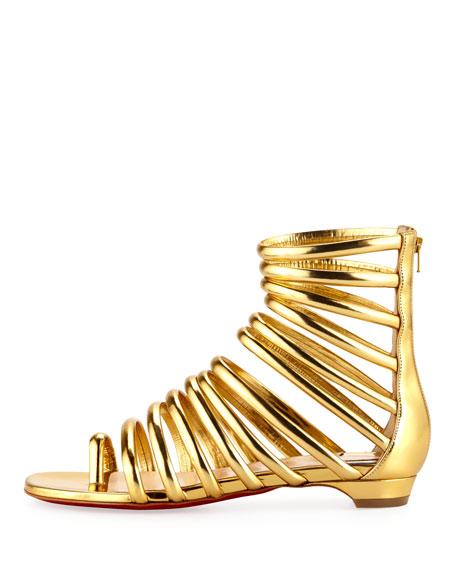 Catchetta Metallic Gladiator Sandal, Gold