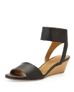 Coclico Kerel Leather Micro-Wedge Sandal