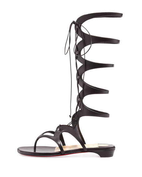 innovative design c48e1 47174 Girafina Knee-High Gladiator Sandal Black