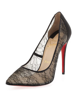 Christian Louboutin Pigalace Peep-Toe Pump, Black
