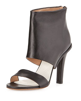 Maison Martin Margiela Leather High-Heel Sandal, Black