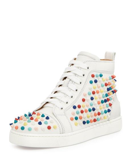 Louis Spikes Calfskin High-Top Sneaker