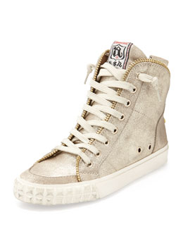 Ash Shake Metallic Zip-Back High-Top