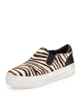 Ash Jungle Zebra-Print Calf Hair Sneaker