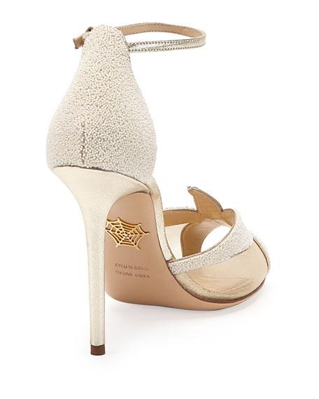 Sandrine Beaded Starfish Sandal, Pearl