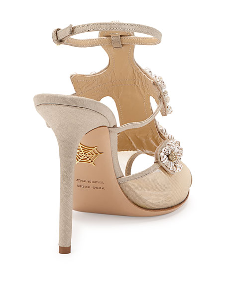 Shore Thing Canvas Anchor Sandal, Natural