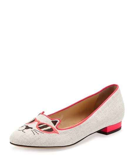 Sunkissed Kitty Canvas Flat, Pink
