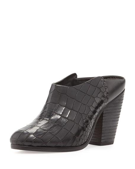 Enid Crocodile-Stamped Mule
