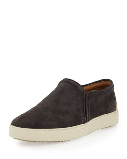 Rag & Bone Kent Suede Slip-On, Charcoal